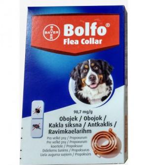 Bolfo antkaklis nuo parazitų didelių veislių šunims