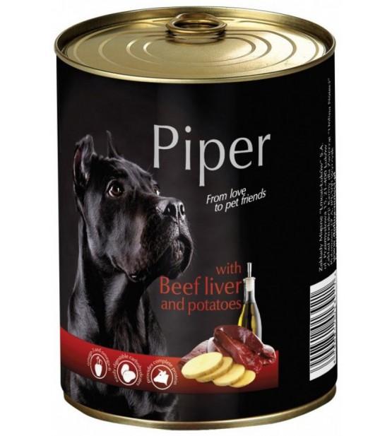 PIPER konservai šunims su jaučių kepenėlėmis ir bulvėmis