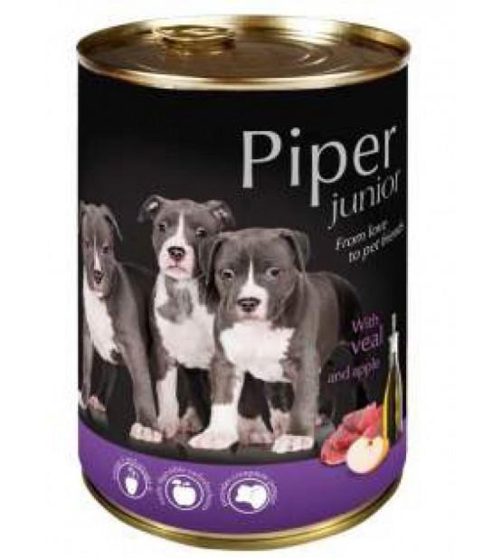 PIPER Junior konservai šuniukams ir jauniems šunims su veršiena ir obuoliais
