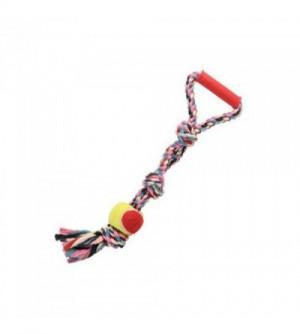 Žaislas - virvė susukta su kamuoliu