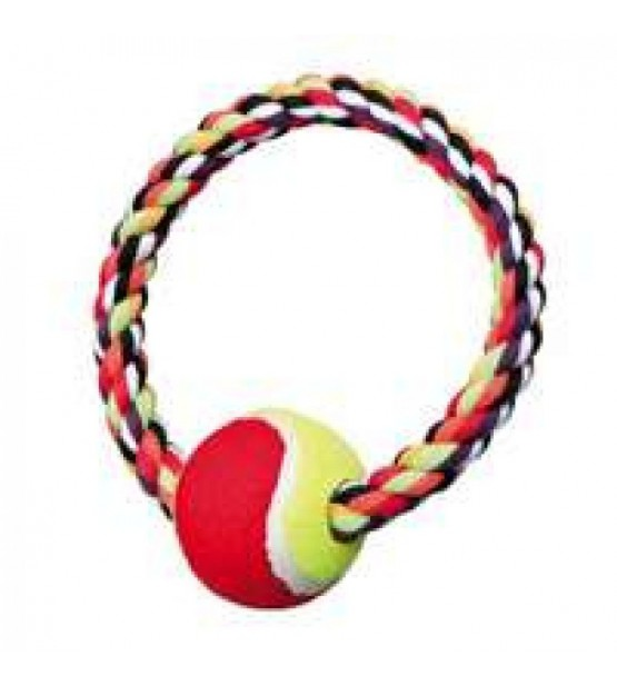 žaislas - teniso kamuolys su virviniu ratu