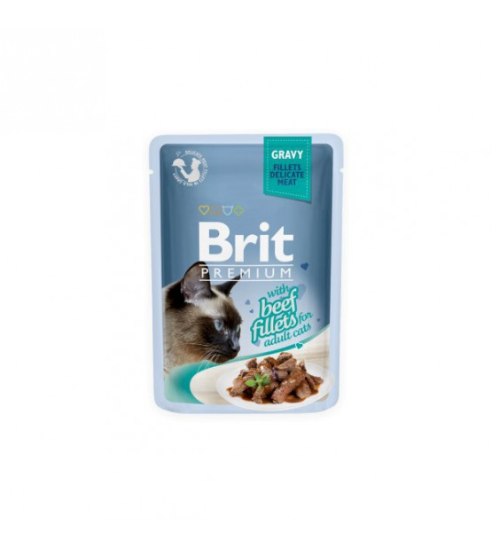 BRIT PREMIUM Cat Delicate Beef konservai katėms 85g