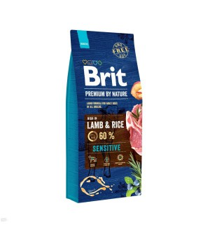 Brit Premium BY NATURE Lamb & Rice Sensitive sausas maistas šunims