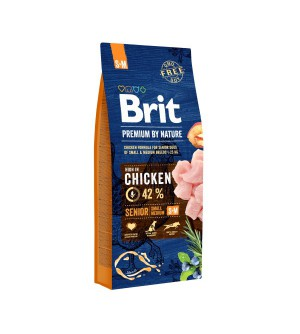 Brit Premium BY NATURE Senior S/M sausas maistas šunims