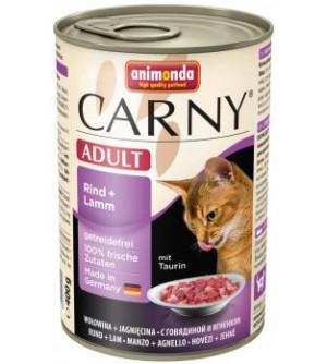 Carny Adult konservai katėms su jautiena ir ėriena