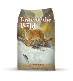Taste of the Wild Feline Canyon River sausas maistas katėms