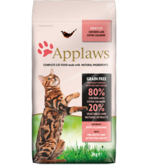 Applaws Cat Adult Chicken & Salmon sausas maistas katėms