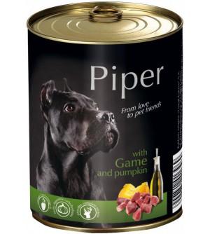 PIPER konservai šunims su žvėriena ir moliūgais