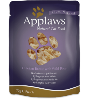 Applaws Cat Chicken Breast & Wild Rice pouch konservai katėms
