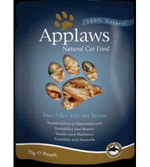 Applaws Cat Tuna Fillet &amp Sea Bream pouch