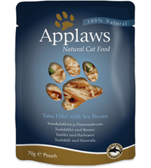 Applaws Cat Tuna Fillet & Sea Bream pouch konservai katėms