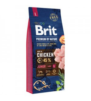 Brit Premium BY NATURE  Junior L sausas maistas šunims