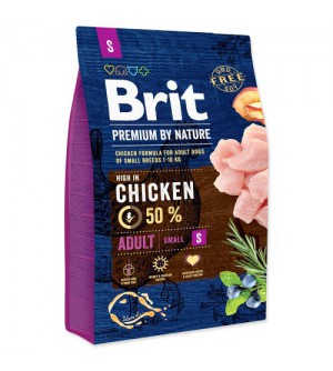 Brit Premium BY NATURE Adult S sausas maistas šunims
