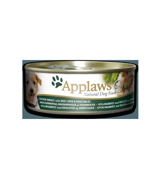 Konservai Applaws Dog Chicken Breast, Beef Liver & Vegetables konservai šunims