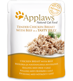 Applaws Cat Chicken with Beef pouch in jelly