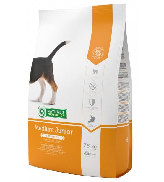 Natures Protection Medium Junior sausas maistas šunims