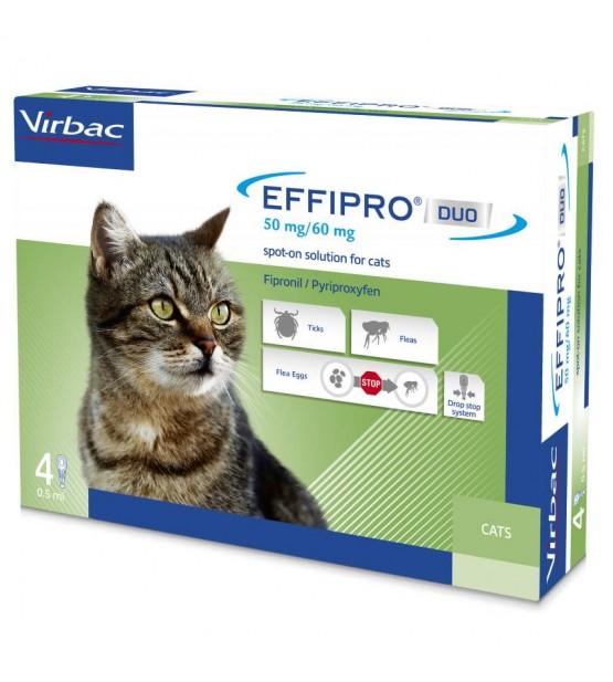 Effipro Duo Užlašinamasis tirpalas katėms nuo blusų ir erkių