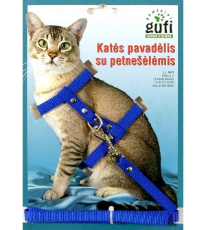Gufi Sintetinis katės pavadėlis su petnešėlėmis