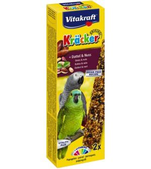 Vitakraft Kracker African Frucht didžiųjų papūgų gardėsiai su datulėmis ir riešutais