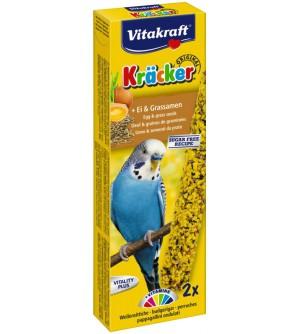 Vitakraft Kracker Banguotojų papūgėlių gardėsiai su kiaušiniu ir žolių sėklomis
