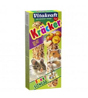 Vitakraft Kracker Žiurkėnų gardėsiai su vaisiais ir dribsniais