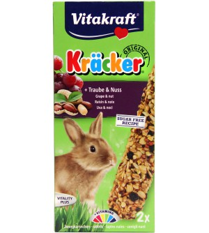 Vitakraft Kracker Dekoratyviniam triušiui gardėsis su riešutais ir razinomis.