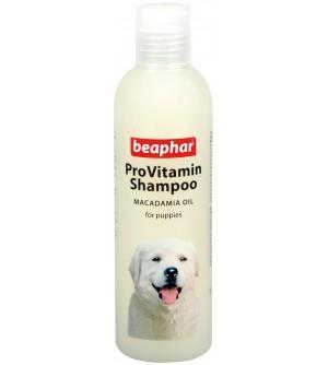 Beaphar Provitamin Jaunų šunų šampūnas su makadamijų aliejumi.