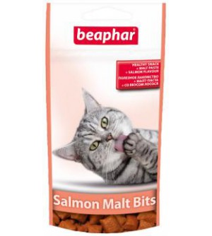 Beaphar Malt Bits Salmon Kačių skanėstai su Malt pasta