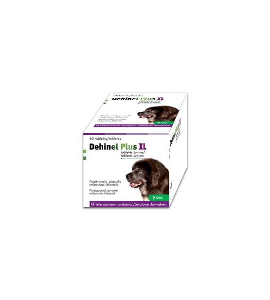 Dehinel XL Plus Tabletės nuo kirminų didelių veislių šunims.