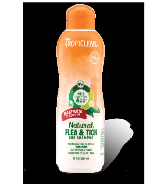 Tropiclean Flea&Tick Dog Max Strength Shampoo