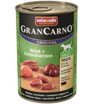 Gran Carno Adult konservai šunims su jautiena ir ančių širdelėmis