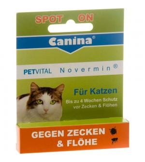 Canina Petvital lašai nuo parazitų Novermin Cat