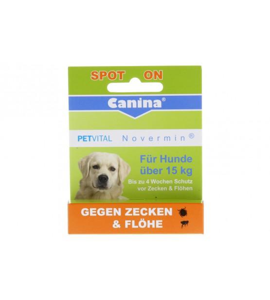 Canina Petvital lašai nuo parazitų  Novermin Dog nuo 15 kg