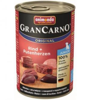 Gran Carno Junior konservai šunims su jautiena ir širdimis