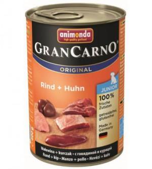 Gran Carno Junior konservai šunims su jautiena ir vištiena