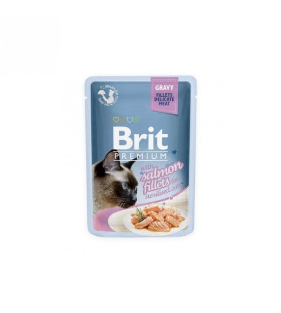 BRIT PREMIUM Cat Delicate Sterilised konservai katėms 85g