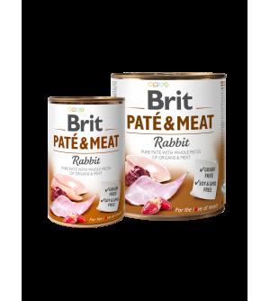 BRIT CARE Rabbit Pate & Meat konservai šunims 400g