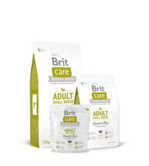 Brit Care Adult Small Breed Lamb & Rice sausas maistas šunims
