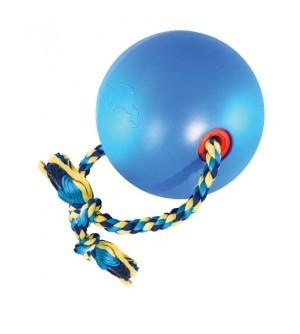 Žaislas gumi. kamuolys mėl. su virve