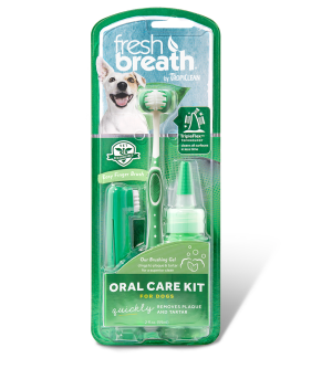 Tropiclean Fresh Breath Oral Care Kit rinkinys