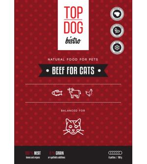 Top Dog Bistro Beef for Cats šaldytas maistas