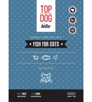 Top Dog Bistro Fish for Cats šaldytas maistas