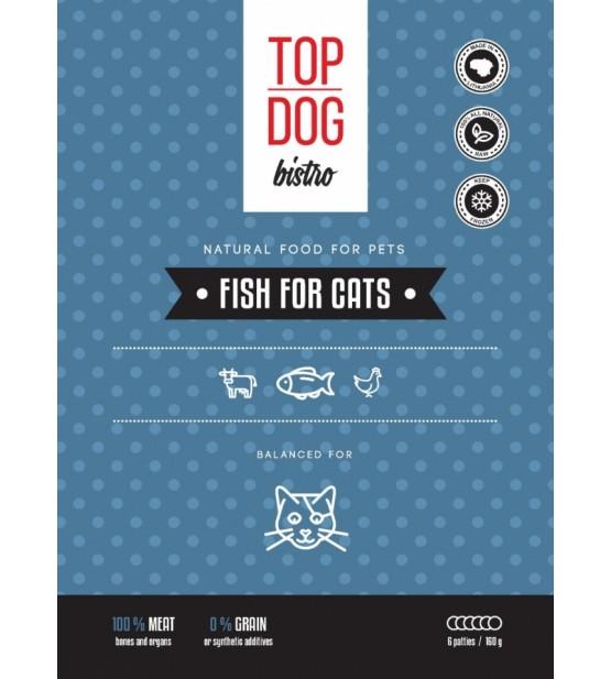 Top Dog Bistro Fish for Cats šaldytas maistas