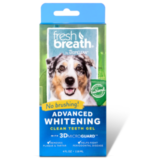Tropiclean Fresh Breath Advanced Whitening dantų valymo gelis