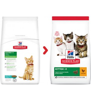 Hill's Science Plan Kitten Healthy Development Chicken sausas maistas katėms