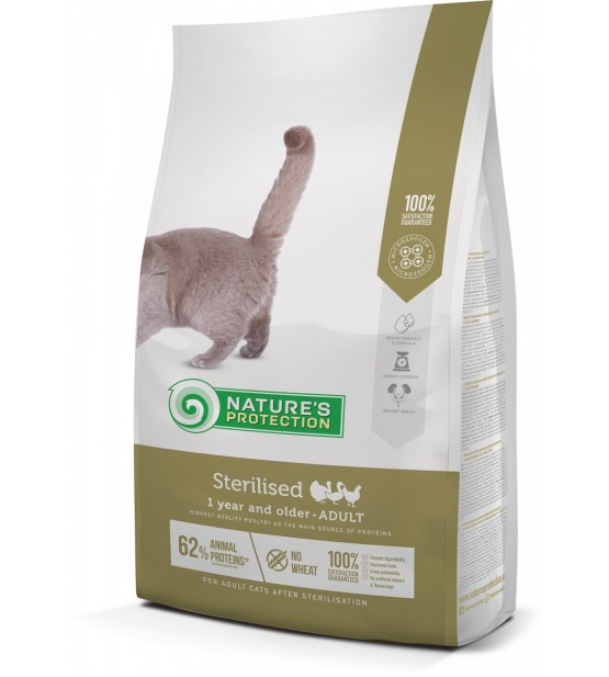 Natures Protection Neutered sausas maistas katėms