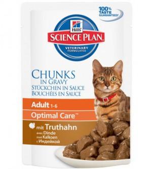 Hills Sp Feline Adult Turkey pouch