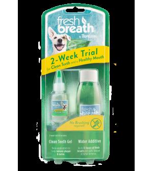 Tropiclean Fresh Breath Dental Trial Kit rinkinys augintinio dantų valymui
