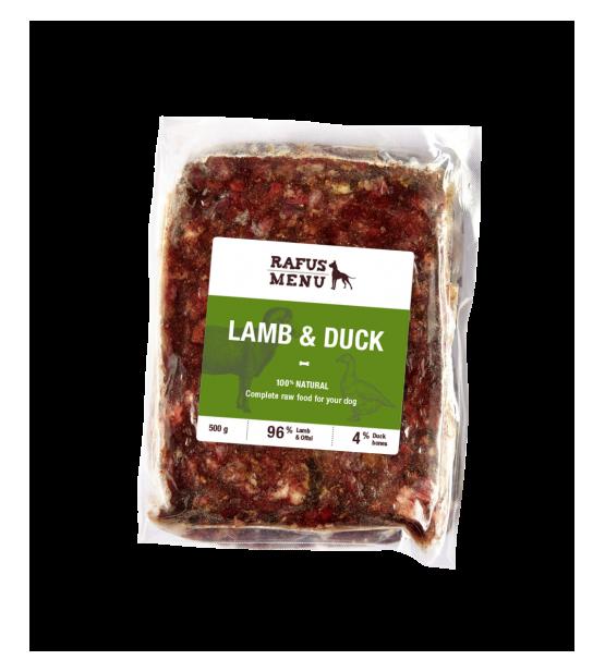 Rafus šaldytas maistas su aviena ir antiena