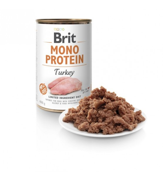Brit Care Mono Protein Turkey konservai šunims